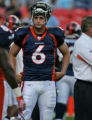 [ES108] -Denver Bronco's second year starting quarterback Jay Cutler before the Bronco's...
