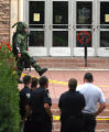 Boulder Police and their bomb unit responding to a stabbing and bomb threat at the UMC on the CU...