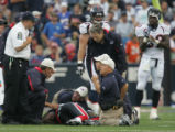 JOE1085 -  Medical personnel attended to Buffalo Bills tight end Kevin Everett at Ralph Wilson...