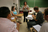 David Diep, (cq) 23, John Conrad (cq) 22, Christin Sahm (cq) 27 teacher Dr Ruth Chavez,(cq) Mike...