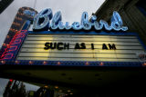 Neon lights of Colfax landmark  the Bluebird theater on Colfax Ave., in Denver, Colo. on Thursday,...