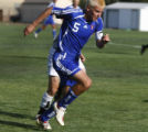 Cherry Creek's #5 Alex Greenman chases the ball at Lakewood Memorial Stadium, Lakewood, Colo. on...