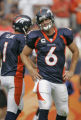 [ES108] - Denver Bronco quarterback Jay Cutler is visibly disappointed as he leaves the field...