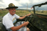 Fred LaPerriere (cq) drives his fully restored,1942 General Purpose Amphibian vehicle, Wednesday...