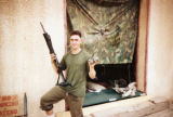 22-year-old former Marine sergeant Tim Slater is shown in this undated photo during his service in...