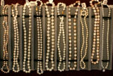 Strings of pearls, in a variety of prices ranging from $60.00 to over $1,000 for sale at Anspach's...