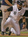 0265 Colorado Rockies Yorvit Torrealba reacts after scoring on a double by teammate  Ryan...