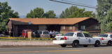 Home of Albert Romero (cq) at 6100 West Yale Avenue early Monday morning July 16,2007. Police were...