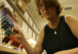 "Judy Holabird(cq), of Wheat Ridge,  assembles costumes for the production ""The Little..."