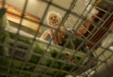 Doloris Dunn(cq), of Aurora, Colorado puts items into her cart at King Soopers on Ileff Avenue in...
