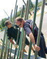 A Grand Junction Firefighter and a Mesa County Sheriff Deputiy spring into action building a man...
