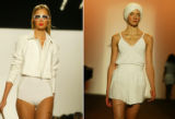 NYT85 - (NYT85) NEW YORK -- Sept. 8, 2004 -- NY-FASHION-WEEK-4 -- A 1950's bathing suit and a...