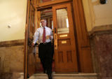 Colorado Governor Bill Ritter leaves the Old Senate Chambers at the State Capitol, Tuesday, July...