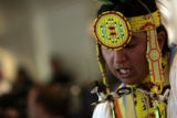 Sage Iron Cloud (cq) of Rapid City, S.D., performs at the Children's Hospital in Denver on...