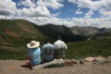 Joann, David (son) and Don Wendell (cq) have lunch at the top of Loveland Pass Wednesday...