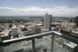 The view from the most expensive apartment for rent in Denver, at 1600 Glenarm Place.  The rent is...
