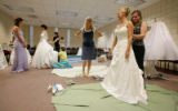 (Denver, Colo., July 21, 2007) Debutantes Katie Bell (white gown, left) and Andrea Gordon (2nd...