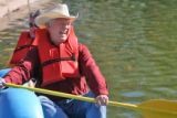 Denver Councilman Charlie Brown (cq) enjoys a laugh on Grasmere Lake in Washington Park Friday...