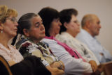 Family members of Tim Masters (cq) wait and watch during a hearing for a new trial at the Larimer...