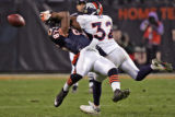 [EPS101] Denver Bronco cornerback Dre Bly is called for  illegal contact while defending Chicago...