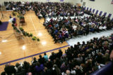 Nearly the entire town filled the Sheridan Elementary School gymnasium to bsay farewell to one of...