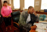 (DENVER, Colo., May 21, 2004) Denver Nuggets center Marcus Camby was principal for a day at...