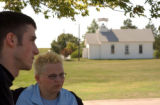 (BEATRICE, Nebraska, September 8, 2004) Zach Grady, 19 and Monica Feldhausen,19, spoke of Sam, as...