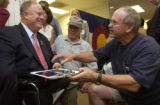 (Denver, Colo., September 8, 2004) Former Georgia Senator and Veterans Administrator Max Cleland,...