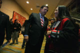 Presidential candidate, New Mexico Gov. Bill Richardson attended the National Congress of American...