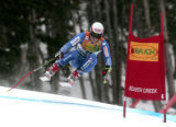 Daniel Albrecht, SUI, wins the men's super combined. He  skied to a 4th  place finish in  the...