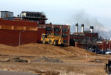 Redevelopment of Gates Rubber Company property continues near Mississippi and Broadway Friday...