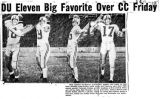 A Rocky Mountain News clipping featuring a quartet of Denver University passers on the 1954 team:...