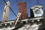 MJM108 Colorado First Lady Jeannie Ritter installed a clothes line at the Governor's Mansion, seen...