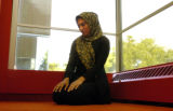 (DENVER Colo., September 9, 2004) Nabiha Syed, 19 years old - student at Denver University, does...