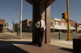 (BEATRICE, Nebraska, September 9, 2004) Bruce E. Lang, Chief of Police, outside the police station...
