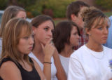 (BEATRICE, Nebraska, September 9, 2004) left to right, black top, Nicole Ramsey, white top hand to...