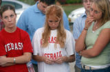 (BEATRICE, Nebraska, September 9, 2004) left to right, red shirt, Amanda Stevens, white shirt,...