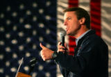 Democratic presidential hopeful John Edwards campaigns in Des Moines, Iowa on Monday, December 10,...