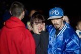 DM0239   Roberta Dominguez walks away in tears and is comforted by her husband Robert Dominguez as...
