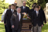 (BEATRICE, Nebraska, September10, 2004) Ten casket bearers moved the body of Samantha from the...