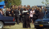 (BEATRICE, Nebraska, September10, 2004) Farewell hugs after the cemetery services. Samantha Spady...