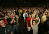 A full house at the Pepsi center as thousands gathered to see reunited super group The Police ...