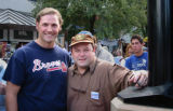 BOULDER, COLO. - SEP. 25, 2004   Scott Mitchell, of Denver, with actor Jason Alexander in Boulder,...