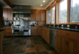 The kitchen in the home of architect Thomas Beck in Estes Park, which is entirely off the grid--he...