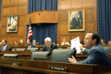 Rep. Ed Perlmutter, D-Colo., presents opening statements before the Financial Services Committee...