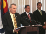 Scott Storey (cq) District Attorney for Jefferson and Gilpin Counties, during press conference i n...