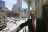 Evan Makovsky (cq) adjacent and overlooking the area to be developed. The Downtown Denver...