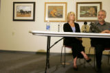 During a press conference held June 19, 2007, Denver Zoo Spokesperson Ana Bowie listens to Denver...