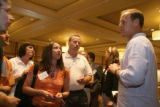Participants of the Organic Summit gather around Walter Robb, cq, co-founder and COO of Whole...