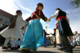 Alexia Zasilas(CQ), 5, dances with her traditional greek dance troup Levendia a troup that ranges...